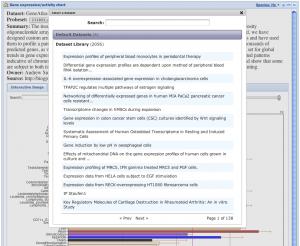Data chart plugin 2.0 dataset selection dialog